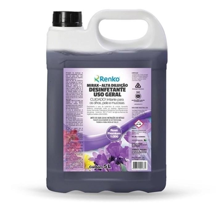 Desinfetante Concentrado Mirax - 5 Litros 1:200 - Rosé Premium