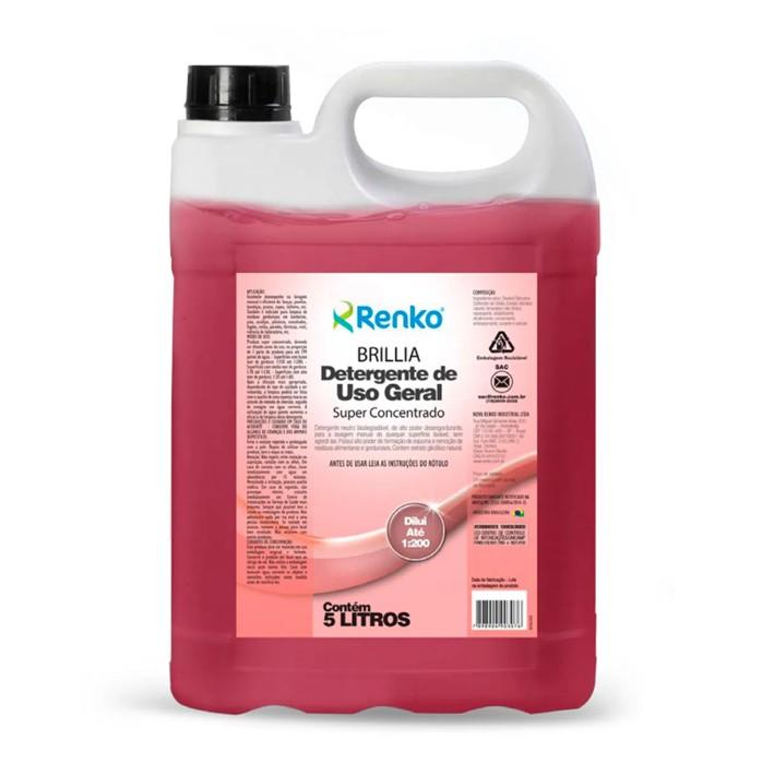 Detergente Concentrado Brillia Renko 5 Litros 1:200