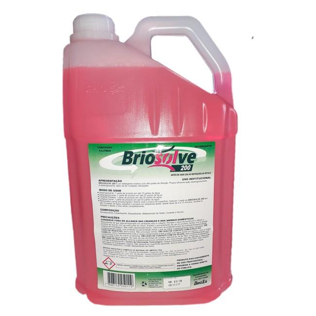 Detergente Desengraxante Desengordurante Concentrado Briosolve 200 5 Litros - 1:50