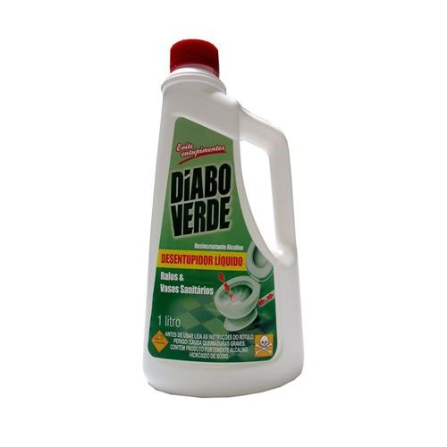 Diabo Verde Desentupidor Liquido para Ralos e Vasos Sanitários 1 litro