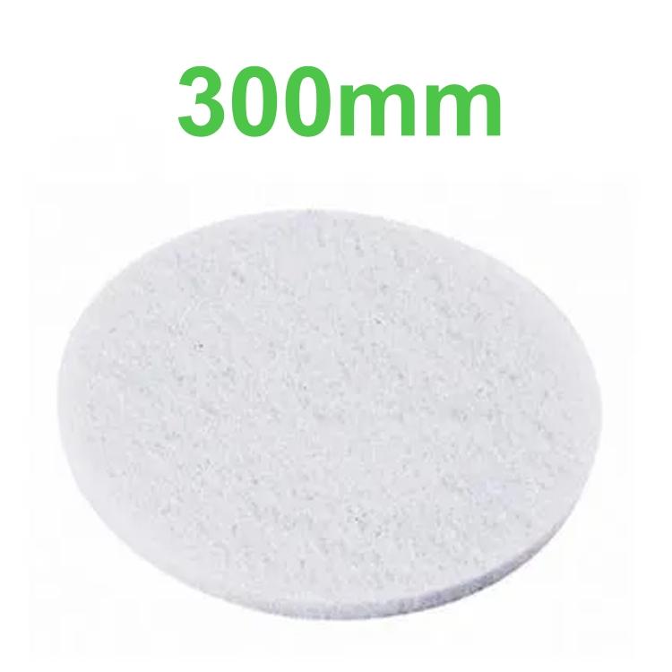 Disco Lustrador Branco para Enceradeira 300mm