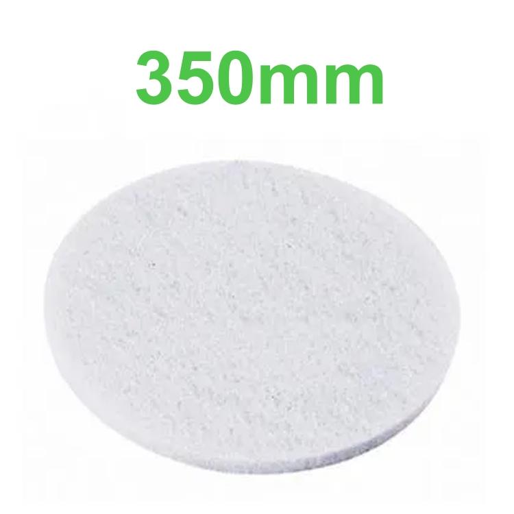 Disco Lustrador Branco para Enceradeira 350mm