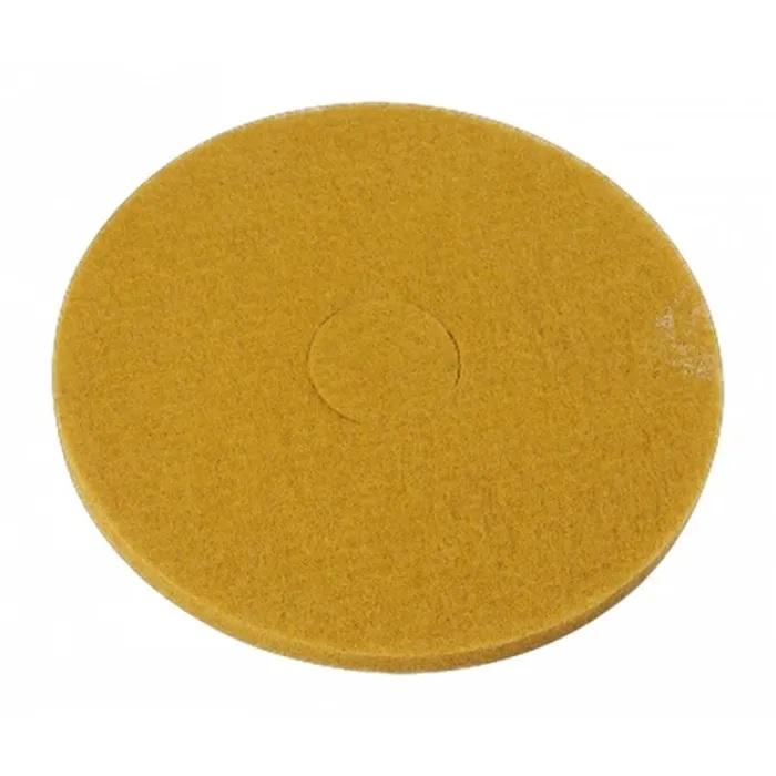 Disco Polidor Bege - Amarelo para Enceradeira 410mm