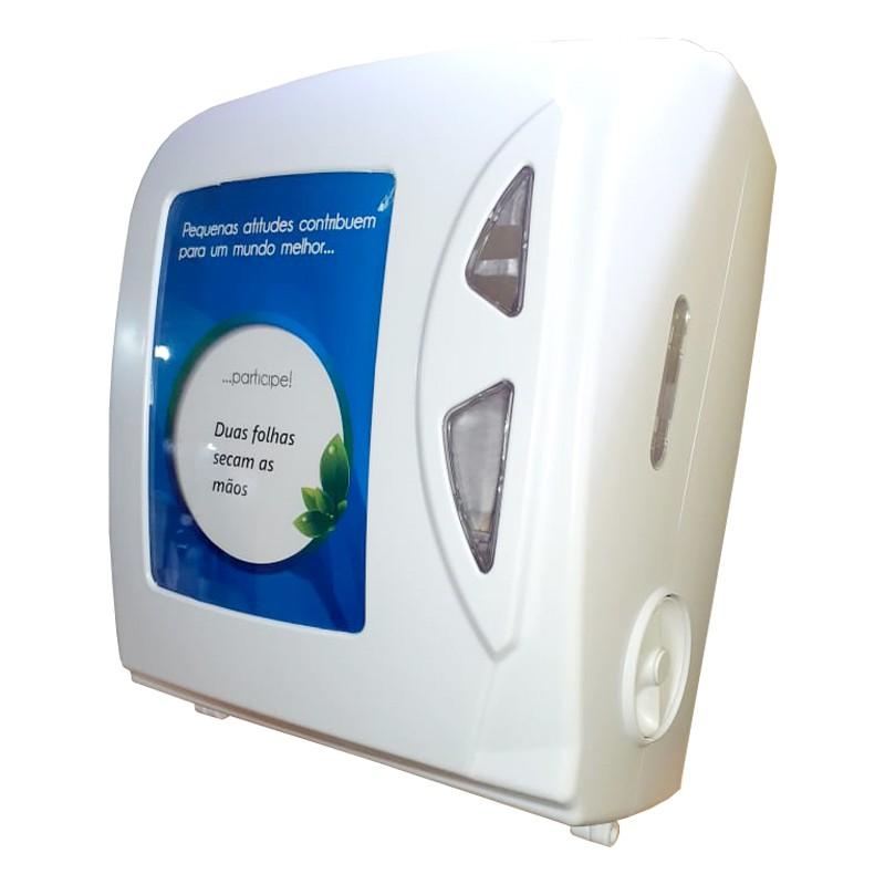 Dispenser Papel Toalha +06 Bobinas Papel Toalha 100%celulose