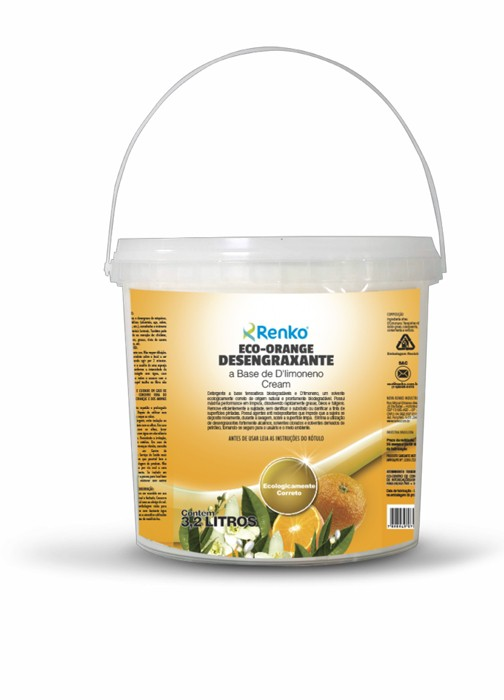 Eco Orange Cream - Desengraxante à base de D`Limoneno 3,2 Litros