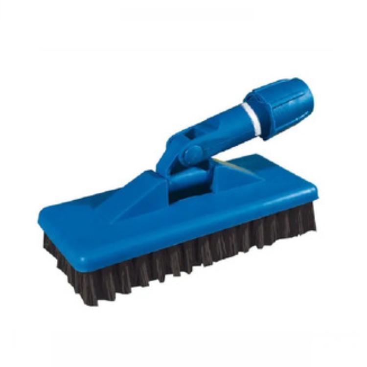 Escova de Nylon com Suporte Limpa Tudo Cor Azul - Limpeza Pesada