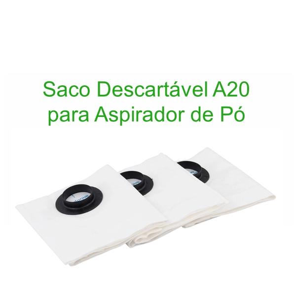 Filtro Saco Descartável Aspira para Aspiradores A20