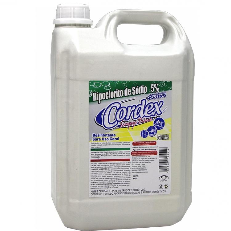 Hipoclorito Cordex 5L - Concentração: 5,0%
