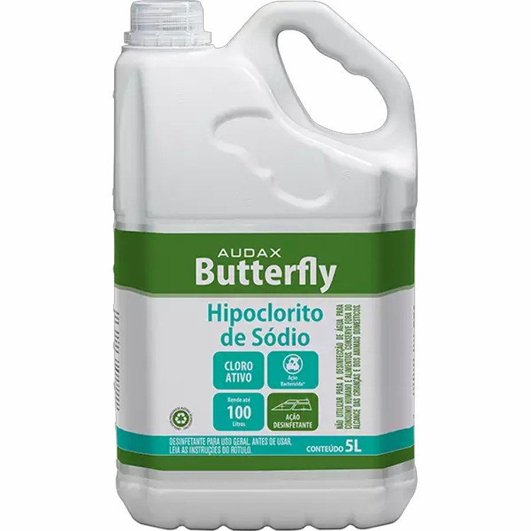 Hipoclorito de Sódio 5% Audax Buttefly 5L