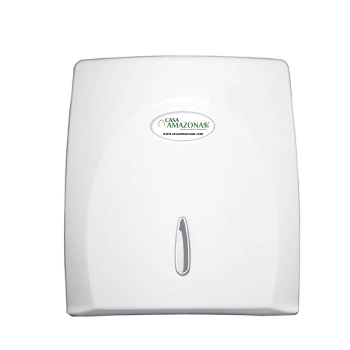 kit Dispenses para Banheiro Classic Branco, papel toalha e sabonete liquido com reservatorio