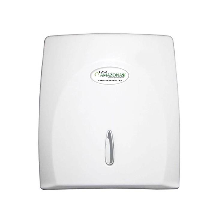 kit Dispenses para Banheiro Classic Branco, toalha, higienico e sabonete