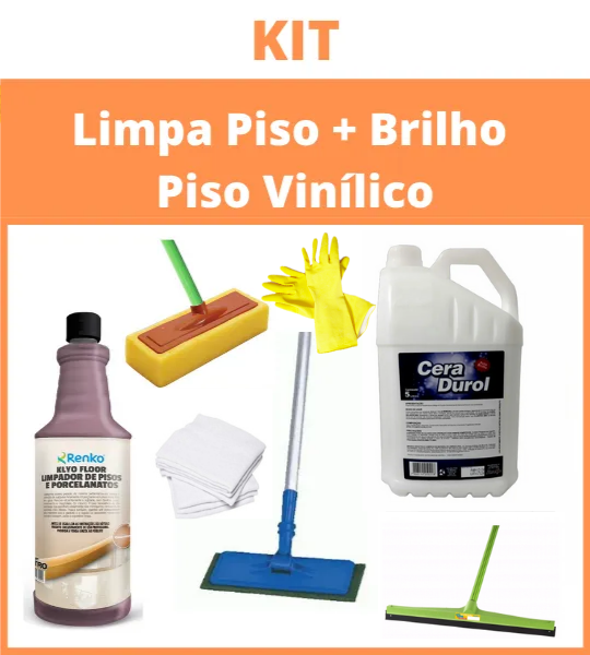 Kit Limpa + Brilho Para piso Vinílico