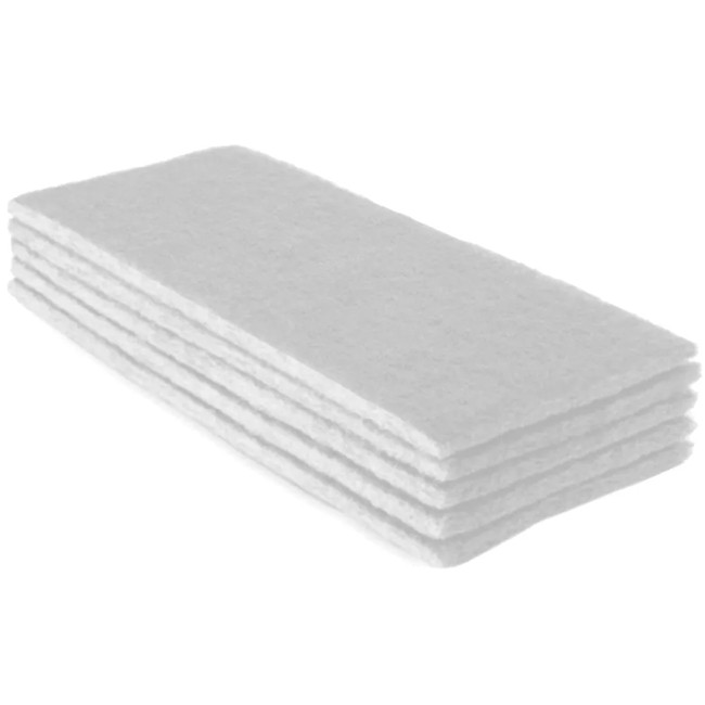 Kit Limpeza de Porcelanato- 02 fibras Brancas + Suporte LT Completo
