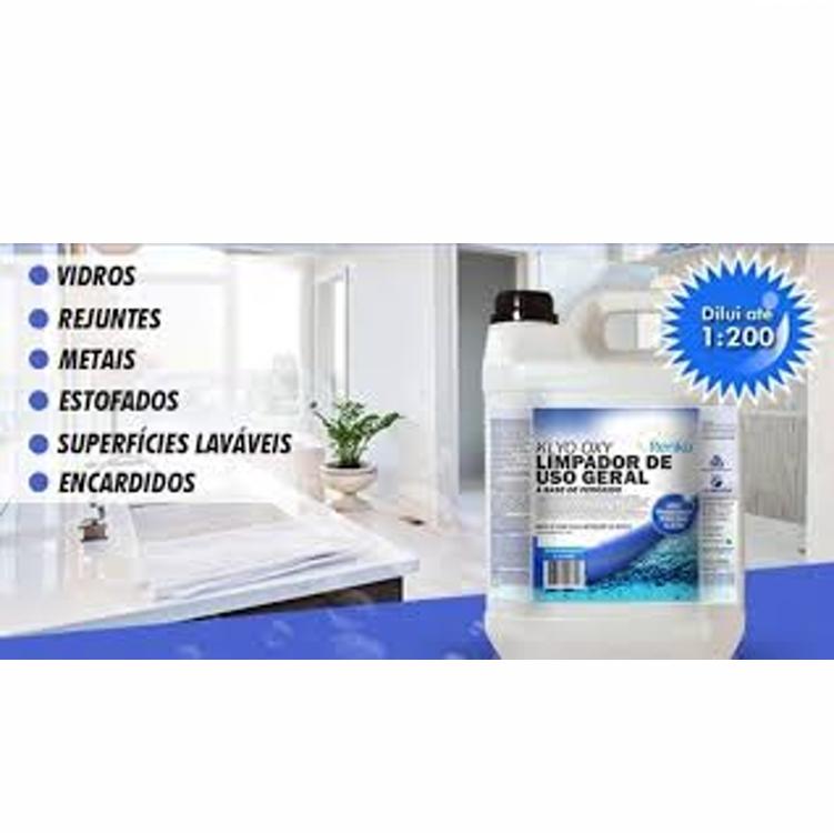 Klyo Oxy 5L 1:00 - Limpador de Uso Geral Pronto Uso à base de Peróxido de Hidrigênio