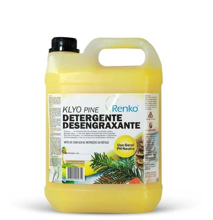 Klyo Pine 5L 1:200 - Detergente Desengraxante Concentrado