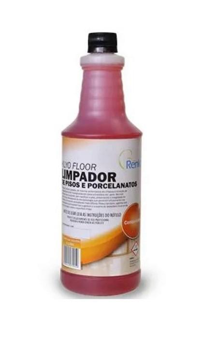 Limpa Piso Antiderrapante, Laminado e Todos os Outros - Klyo Floor - Alcalino - Remove Goduras e Incrustações - Concentrado - 1L 1:200