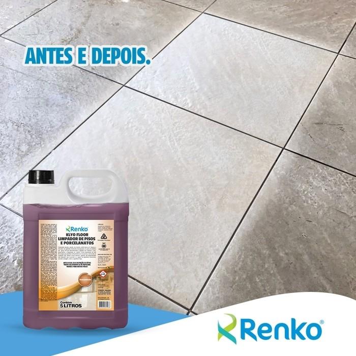 Limpa Piso Antiderrapante, Laminado e Todos os Outros - Klyo Floor - Alcalino - Remove Goduras e Incrustações - Concentrado - 5L 1:200