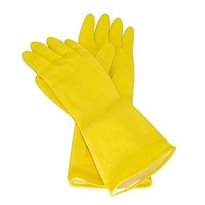 Luva Latex Multiuso Amarela para Limpeza