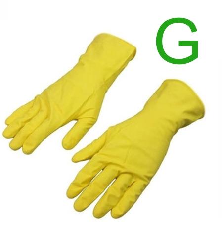 Luva Latex Multiuso Amarela para Limpeza Tamanho G