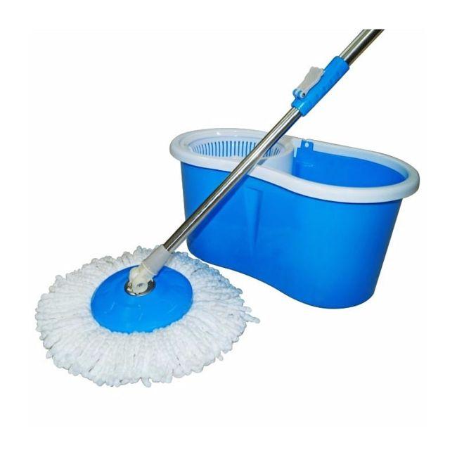 Mop Rotatório Esfregão Nobre Completo + Brinde Refil Mop