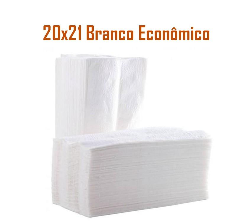 Papel Toalha Interfolhado Branco com 1000 folhas
