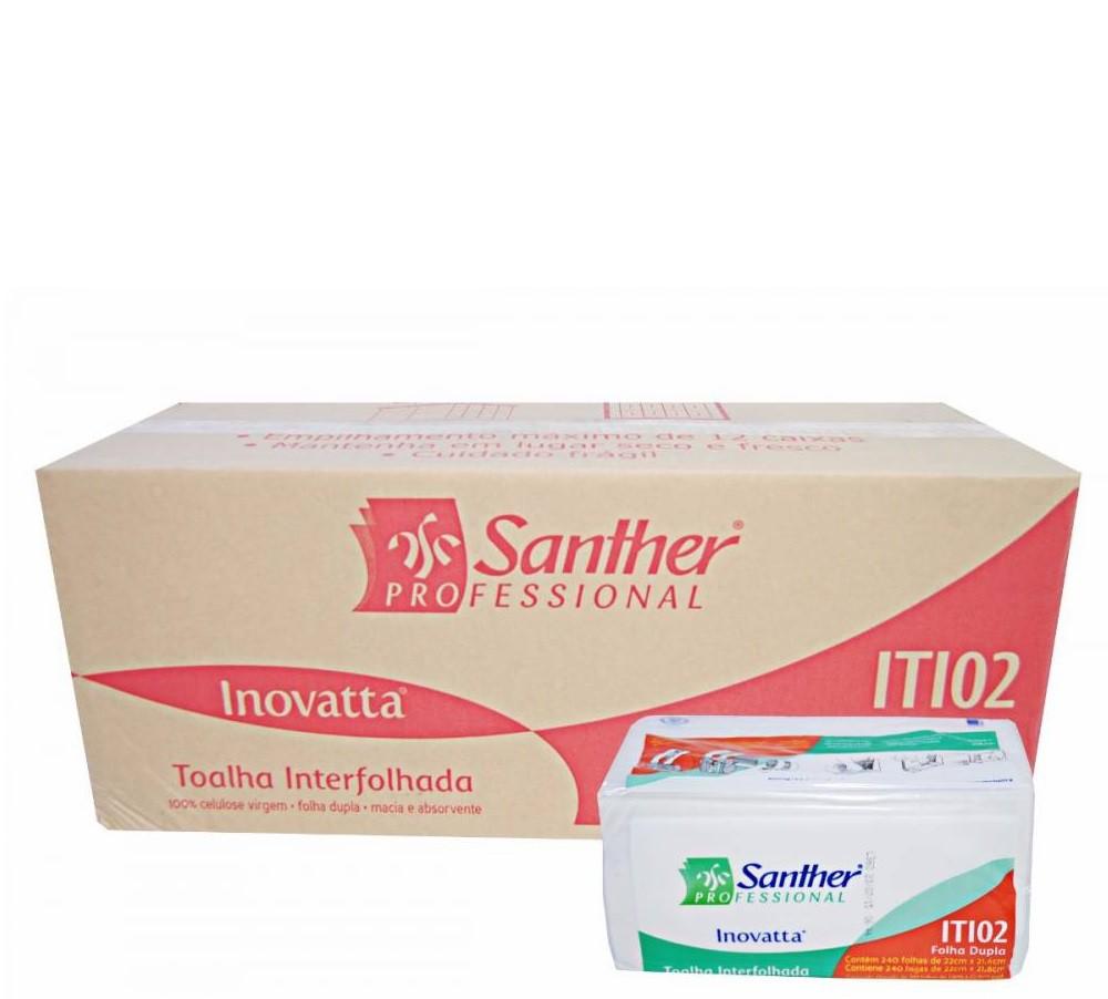 Papel Toalha Santher Inovatta Folha Dupla ITI02 com 2.400 folhas