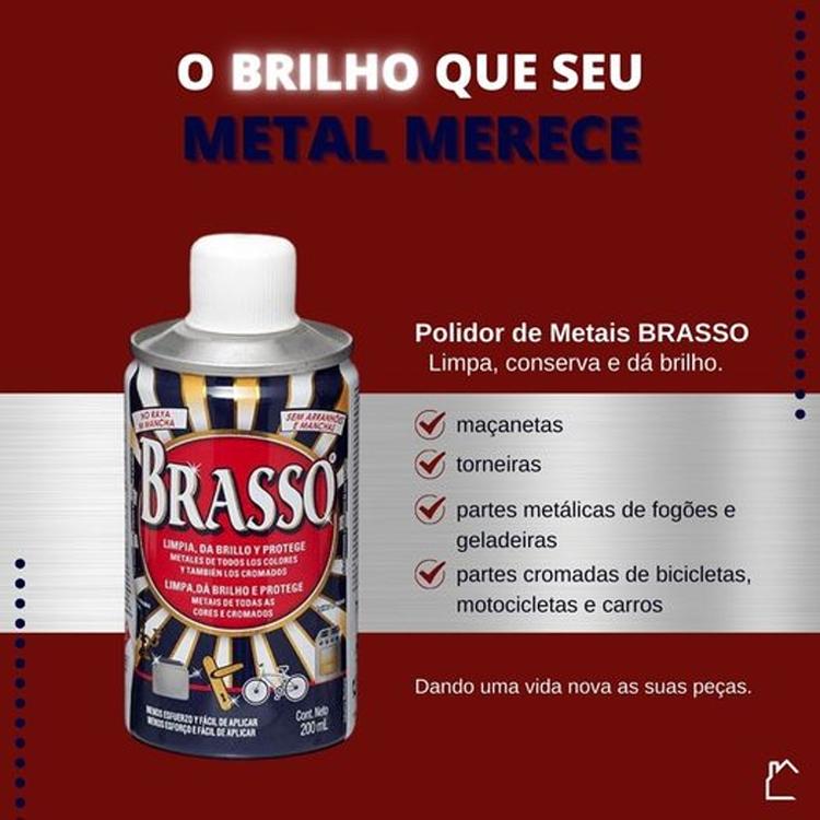Polidor de Metais Brasso - 200ml