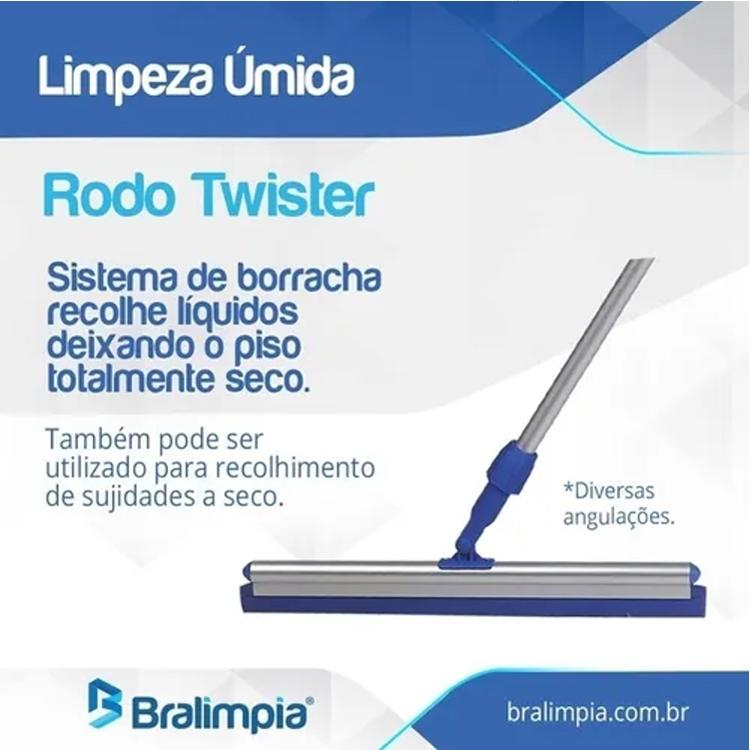 Rodo Twister Articulado Bralímpia - Com Cabo