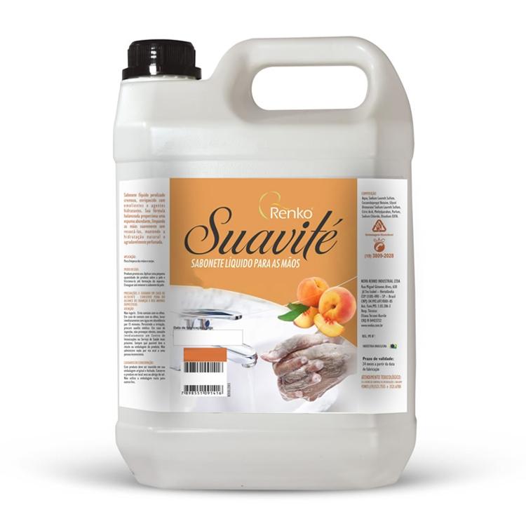 Sabonete Líquido Cremoso - Renko Suavité -  5 Litros - Pêssego