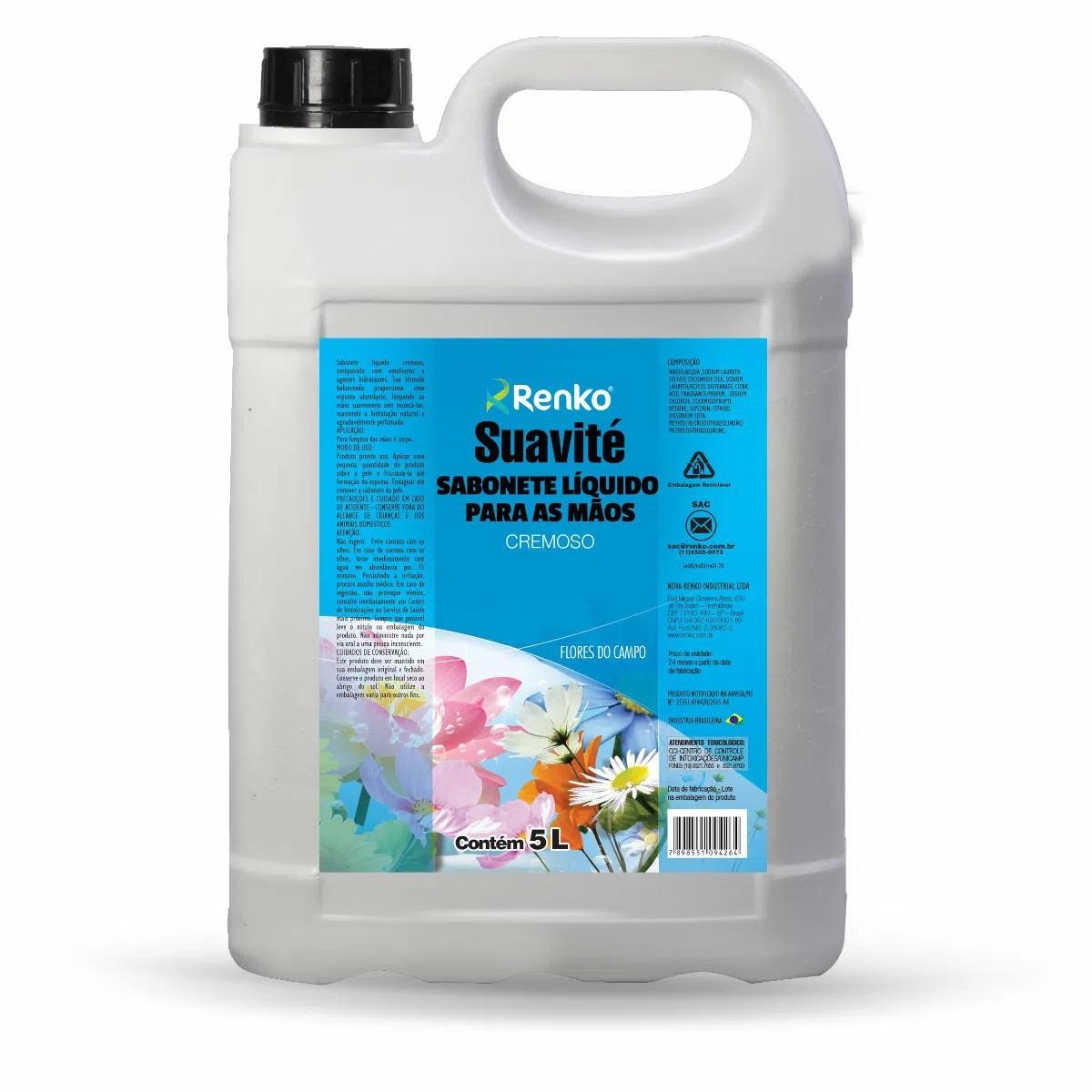 Sabonete Líquido Cremoso - Suavité - Flores do Campo - 5 Litros