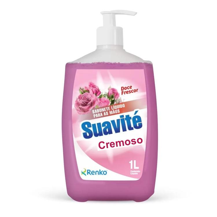 Sabonete Líquido Cremoso Suavité Renko Pump 1 Litro Fragrância Doce Frescor