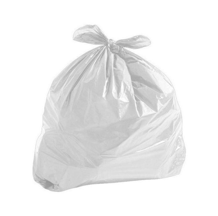 Saco de Lixo Branco Leitoso - 60 Litros