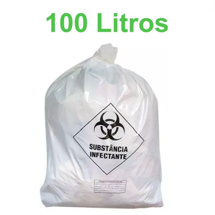 Saco de Lixo Hospitalar Infectante 100 Litros com 100 unidades