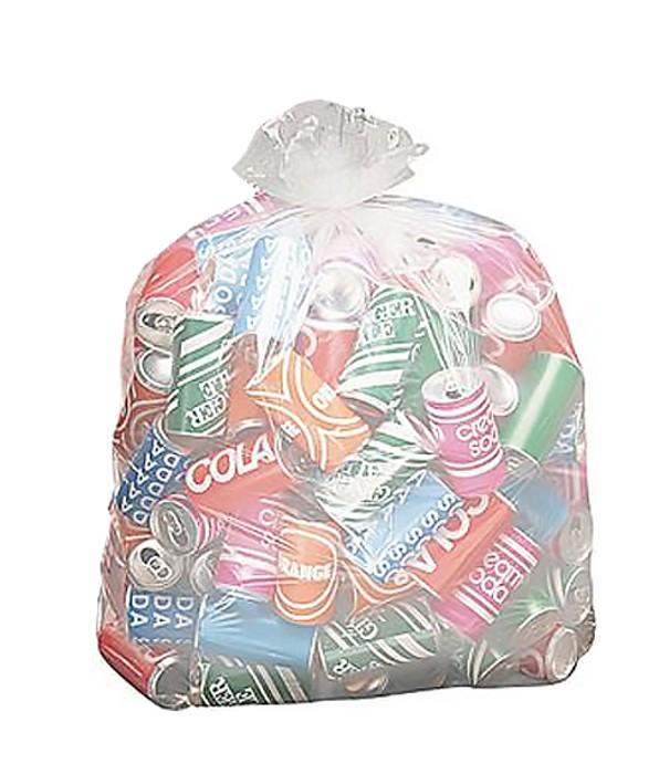 Saco de Lixo Transparente - 40 Litros