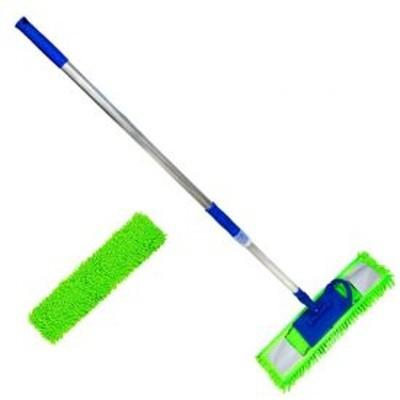 Super Mop Po Microfibra 40cm (Cabo + Suporte + Refil de Microfibra)