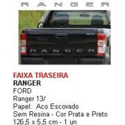 Faixa Tampa Traseira Ranger 2013 2014 2015 2016 2017 2018 2019 2020 Prata