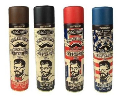 Silicone Spray Perfumado Men Brilho Seco 400ml 10 Un
