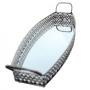 Bandeja Retangular c/Espelho em Metal 18x10cm