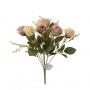 Buquê de Rosas Amarelo Envelhecido Permanente 40cm