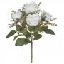 Buquê de Rosas Branca Permanente 32cm
