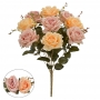 Buquê de Rosas Laranja c/Rosa Permanente 47cm