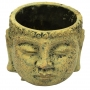 Cachepot Buddha Cimento Artesanal Caramelo 9x7cm