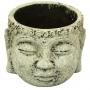 Cachepot Buddha em Cimento Artesanal Areia 9x7cm