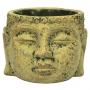 Cachepot Buddha de Cimento Artesanal Caramelo 15x11cm