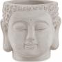 Cachepot Buddha em Cimento Cinza 11x10cm