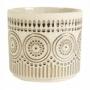 Cachepot de Cerâmica Artesanal Areia c/Dourado Syb 13x12cm