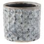 Cachepot de Cerâmica Azul Carol 14x13cm