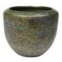 Cachepot de Cerâmica Dourado Antigo Vivian 19x16cm