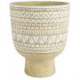 Cachepot de Cerâmica Natural c/Branco Nicol 19x12cm