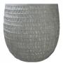 Cachepot de Cimento Artesanal Cinza Kinza 35x34cm